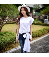 【ブラウス】半袖【着やせ】夏物【白】ホワイト w11328-1
