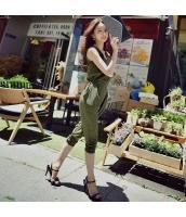 【オールインワン】着やせ【ハイウエスト】夏物【緑】グリーン w11359-1