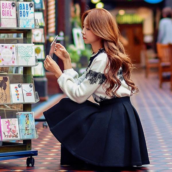 スカート ミニ プリーツ ファッション あわせ易い ハイウエスト 着やせ w8183-1