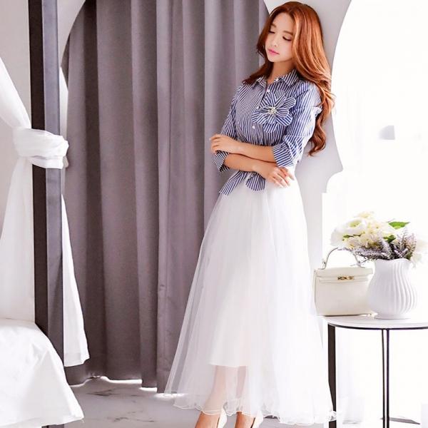 スカート ミニ 台形 コーディアイテム 大裾 w8297-1
