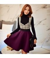 スカート ミニ フレア・ギャザー ポリ ファッション ハイウエスト w8561-1