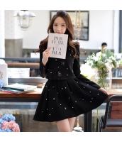スカート ミニ フレア・ギャザー 大裾 ドット・水玉柄 Aライン・フレアワンピ w8761-2