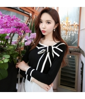 ガーベラレディース 着やせ 蝶々リボン ベアトップ 着やせ ニットウェア セーター w9306-1