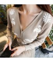 ガーベラレディース コーデアイテム Vネック 着やせ ニットウェア セーター カーディガン w9307-1