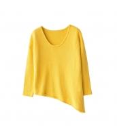 ガーベラレディース ニット・セーター セーター 長袖 イレギュラー裾 w9752-1