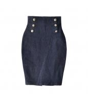 ガーベラレディース ハイウエストスカート デニムスカート 膝丈スカート OL用 w9757-1