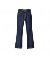 ガーベラレディース ジーンズ デニムパンツ ブーツカットパンツ 着やせ w9851-1