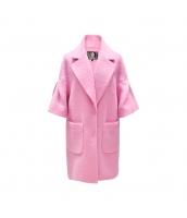 ガーベラレディース フリースコート ミディアムコート ワイド袖 w9913-3