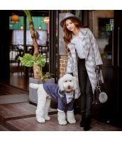 ガーベラレディース フリースコート ロングコート ゆったり 刺繍入り w9936-1