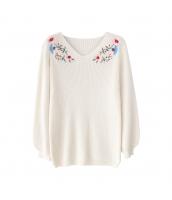 ガーベラレディース ニット・セーター セーター 長袖 刺繍入り w9988-1