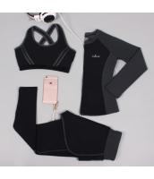 ヨガ フィットネス トレーニング 長袖Tシャツ+タンクトップ+重ね着風パンツ3点セット アンサンブル スポーツウェア ピラティス ジム ダンス ランニング シェイプアップ ダイエット xmn1702-1