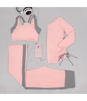 ヨガ フィットネス トレーニング 長袖Tシャツ+タンクトップ+パンツ3点セット アンサンブル スポーツウェア ピラティス ジム ダンス ランニング シェイプアップ ダイエット xmn1703-2