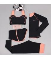 ヨガ フィットネス トレーニング 長袖Tシャツ+タンクトップ+重ね着風パンツ(取り外し可能)4点セット アンサンブル スポーツウェア ピラティス ジム ダンス ランニング シェイプアップ ダイエット xmn1705-3