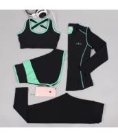 ヨガ フィットネス トレーニング 長袖Tシャツ+タンクトップ+重ね着風パンツ(取り外し可能)4点セット アンサンブル スポーツウェア ピラティス ジム ダンス ランニング シェイプアップ ダイエット xmn1706-2