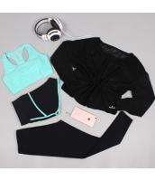 ヨガ フィットネス トレーニング 長袖Tシャツ+タンクトップ+重ね着風パンツ(取り外し可能)4点セット アンサンブル スポーツウェア ピラティス ジム ダンス ランニング シェイプアップ ダイエット xmn1709-2