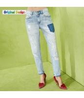 ジーンズ スキニージーンズ ファッション ダメージ  yj5892-1