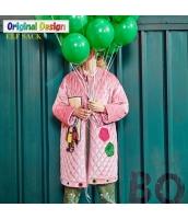 ガーベラレディース キルティングコート ミディアムコート 刺繍 ジップアップ 中綿入り yj6070-1