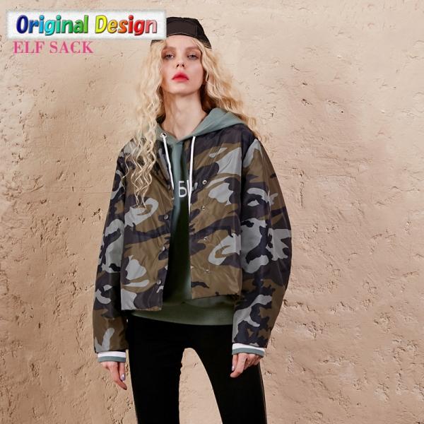 ガーベラレディース ゆったり 迷彩 ストリートファッション ショート丈 ダウンジャケット yj6200-1