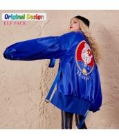 ガーベラレディース ロング丈 ゆったり 刺繍 中綿入り ジャケット ノーカラー yj6210-2