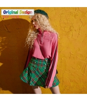 ガーベラレディース レトロ ギャザー Aライン ゴアードスカート ミニスカート yj6292-1