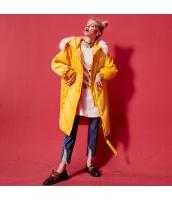 ガーベラレディース ストリートファッション ゆったり フード付き ファー襟 ダウンコート ミディアム丈 yj6375-2