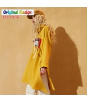 ガーベラレディース ゆったり フリンジ 刺繍 ワンピース プルオーバーパーカー チュニック 長袖 yj6399-2