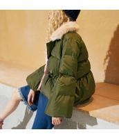 ガーベラレディース ショート丈 ゆったり ファー襟 スイート ダウンジャケット ボアジャケット yj6411-2