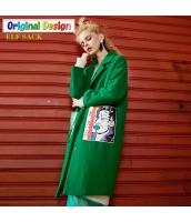 ガーベラレディース ゆったり ストリートファッション ウール フリースコート ミディアム丈 yj6500-1