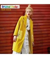 ガーベラレディース ゆったり ストリートファッション ウール フリースコート ミディアム丈 yj6500-2