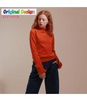 ガーベラレディース タートルネック 刺繍 プルオーバー ニットウェア セーター 長袖 yj6526-2