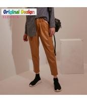 ガーベラレディース PUレザー ストリートファッション カジュアル サブリナパンツ yj6528-2