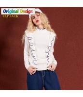 ガーベラレディース ぺプラム裾 着やせ タートルネック プルオーバー ニットウェア セーター 長袖 yj6556-1