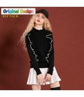 ガーベラレディース ぺプラム裾 着やせ タートルネック プルオーバー ニットウェア セーター 長袖 yj6556-2