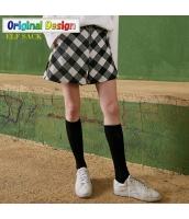 ガーベラレディース 格子 刺繍 ショート丈 カジュアル キュロットスカート ショートパンツ・ホットパンツ yj6593-2
