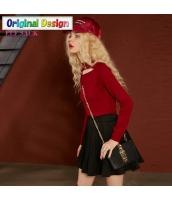 ガーベラレディース 着やせ ホロー ショート丈 ニットウェア セーター 長袖 yj6652-2