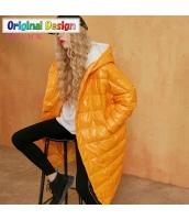 ガーベラレディース ゆったり ストリートファッション フード付き ダウンコート ミディアム丈コート yj6691-2