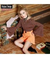 ガーベラレディース ラップスカート ミニスカート 重ね着風 刺繍入り yj6843-1