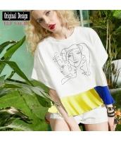 ガーベラレディース Tシャツ 半袖 純綿100%コットン yj6869-1