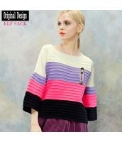ガーベラレディース ニットウェア セーター 七分袖 ワイド袖 yj7015-1