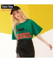 ガーベラレディース Tシャツ カットソー 半袖 綿質 yj8096-1