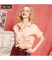 ガーベラレディース シャツ 半袖 かわいい 夏物 yj8178-2