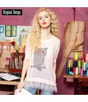 ガーベラレディース Tシャツ カットソー 半袖 薄手 夏物 yj8344-1
