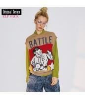 ガーベラレディース ニットウェア セーター 半袖 かわいい 春物 yj8393-2