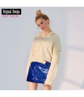 ガーベラレディース ニット・セーター セーター 長袖 ゆったり 春物 yj8403-1