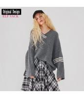 ガーベラレディース ニット・セーター セーター 長袖 ハイロー裾 春物 yj8407-1