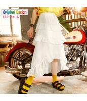 ガーベラレディース マキシスカート ロングスカート イレギュラー裾 春物 yj8713-1