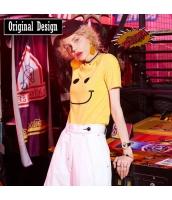 【Tシャツ】カットソー【半袖】ヒップポップ系【刺繍入り】春物 yj8748-1