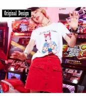 【Tシャツ】カットソー【半袖】刺繍入り【春物】 yj8760-1