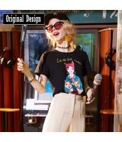 【Tシャツ】カットソー【半袖】刺繍入り【春物】 yj8760-2