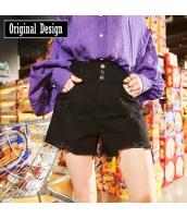 【キュロットスカート】ミニスカート【ダメージ入り】フリンジ裾【春物】 yj8764-1